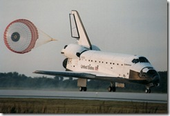 Space Shuttle Endeavor landing