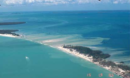 August 2004, Hurricane Charley washed out part of Captiva Island.