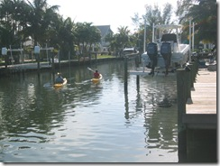 Kayaking canals