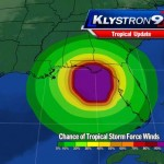 Tropical Storm Debby wind field