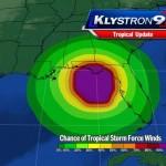 Tropical Storm Debby wind field