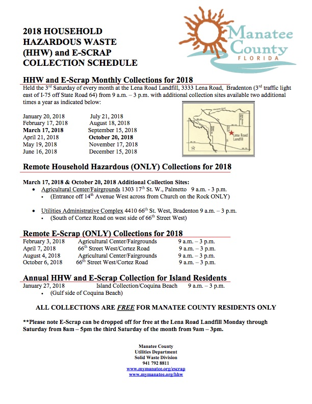 2018 Household Hazardous Waste E-Scrap Special Collections