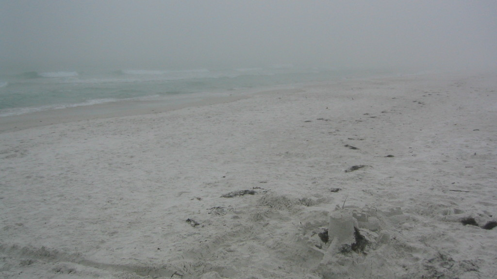 Anna Maria beach in March fog