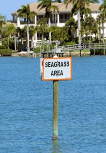 Sea grass Area informational sign