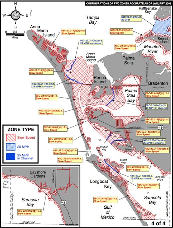 Manatee protection zones, Manatee County