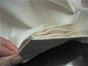 Fold at the pleat pinch