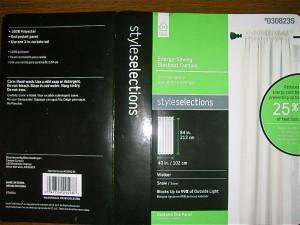Lowes curtain panel product description