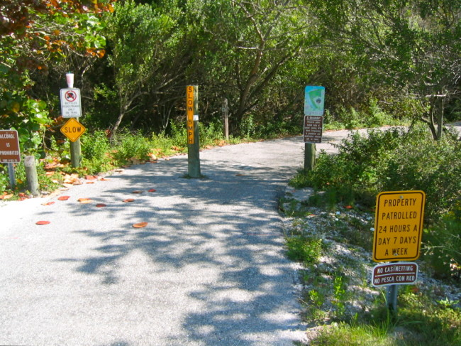 Robinson Preserve south entrance on Manatee Ave, Hwy 64.