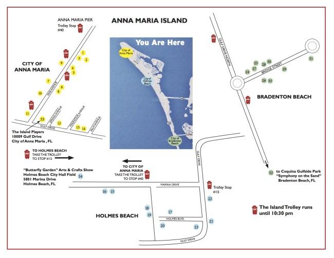 artsHOP 2015 street map