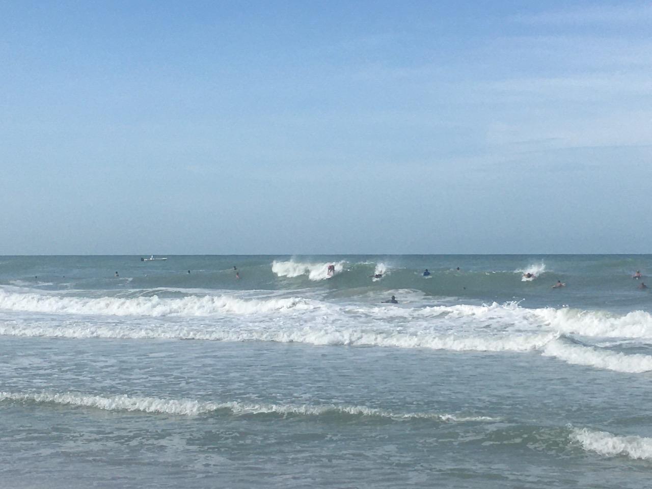 Surf from Hurricane Ida August 29, 2021