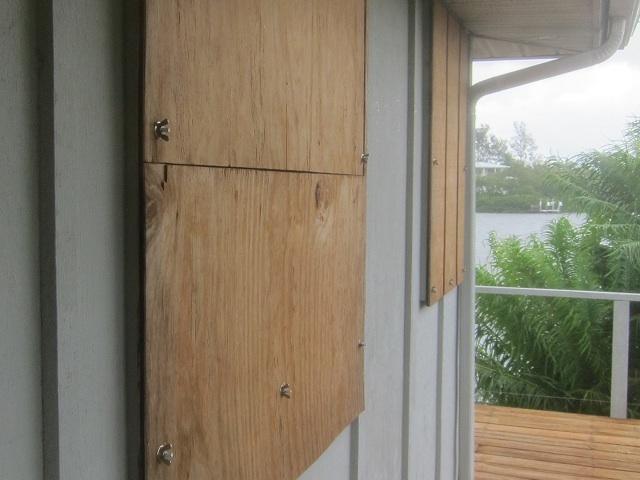 Boarding up windows for hurricane