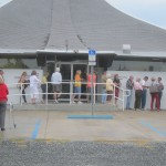 Voters line up for the polling booths at Holmes Beach, Anna Maria Island