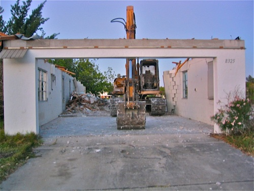 Waterfront house sold and demolished