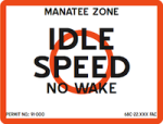 Idle speed zone boats may not go any faster than necessary to be steered