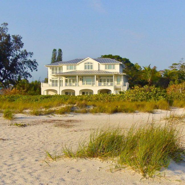 Gulf front beach home